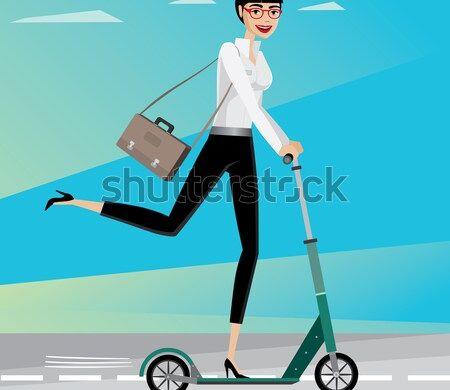 happy-businesswoman-rushing-work-by-450w-326004728